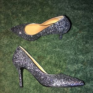 Nine West glitter heeled shoes